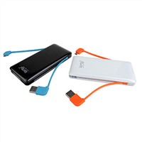 Shenzhen Factory Price Universal Portable Mobile Power Bank 6000mAh  with Output 5V 1A/2.1A