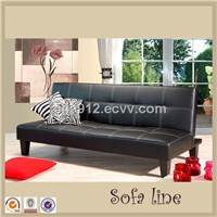 SF00012 PU sofa bed,living room modern PU sofa bed,wood sofa legs folding sofa bed