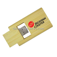 USB memory .Wood Swivel USB Stick, Supports Password Protection and Bootable Function