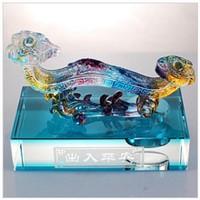 Antique Imitation Liuli Jade Ruyi for Crystal Decorations