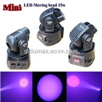 LED Moving head 15w RGB Color mixing LED Club/Bar effect lighting
