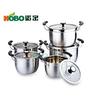 NOBO TG002 10pcs Stainless Steel Stock Pots