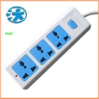 Multiple power sockets with LED light indicator / desktop power outlet socket with phosphor copper