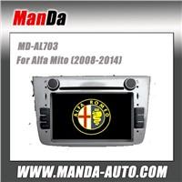 Manda 2 din car dvd gps for Alfa Mito (2008-2014) factory navigation in-dash dvd auto stereo