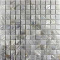 MOP-C43 Mesh Square White River Shell Blank Tile