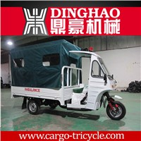 new produced four stroke engine chinese tricycle ambulance