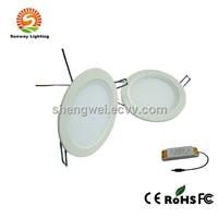 Warm White LED Slim Downlight,18W Round Embedded Panel Light