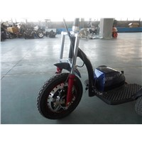 Electric Patrol Scooter with 48V/20ah Lithium, Motorcycle Shockss