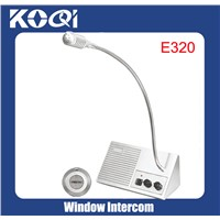 Two way counter window intercom for bank (E320)