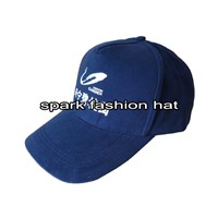 Wholesale promotional 5 panel navy blue baseball cap with printing logo