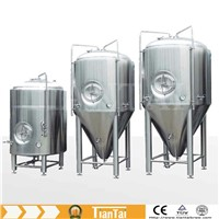 beer conical fermenter/ fermentation tank/unitak with glycol jacketed