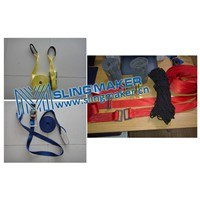 High quality slackline kit balance training webbing rope tree protector kit