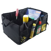 Folding Car Trunk Organizer Box Black