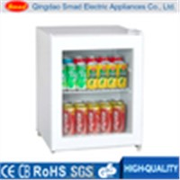 China lg portable single door display mini refrigerator