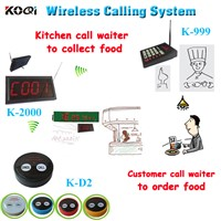 Restaurant call pager buzzer for service for Kitchen Equipment K-999+2000+D2