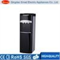 Stainless steel bottom loading water dispenser with storage cabinet