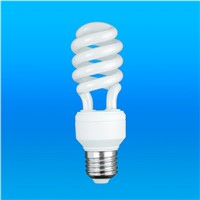 15W Half Spiral Lamp tri-phosphor 55LM/W 6000H with CE Approved