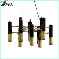 Dining room furniture Ike Suspension lamp Zhongshan led modern chandeliers gold color