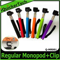 High Quality Original Selfie Stick Handheld z07-1 Monopod +Clip Holder Q-MR001