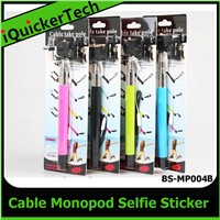 Selfie Stick Cable Control Holder Monopod Z07-5 Plus For ios Android Mobile Phone Q-MW001B