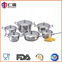 stainless steel 12 pcs cookware set