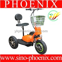 500w 48v 3 wheel electric scooter mobility scooter with big wheels & backrest
