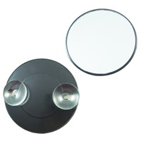 Magnifying round-shaped cosmetic mirror with 2pcs of suction cups