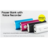 Power Bank Spy Hidden Digital Audio Recorder 4000mAh Mobile Power Pack 120 Hours Voice Recording Portable Power Source