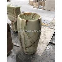 Green Onyx Pedestal Sink