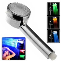 3 Colors Changing by Detected water temperature led bathroom shower head
