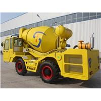 4*4 270 degree rotation 2.5 cbm concrete mixer truck