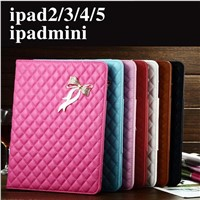 China high quality foldable leather case cover for ipad with dormancy and stents