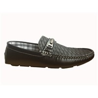 Men fake leather casul shoes with horesbit canvas lining