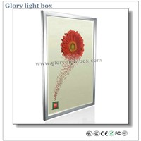 Wall-Mounted or Hanging Aluminum Frame Slim LED Advertising Light Box