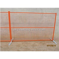 Powder Coated Square Tube Temporary Construction Site Fence