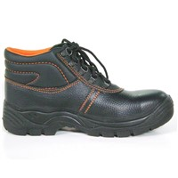 Genuine leather and PU outsoles industrial safety shoes