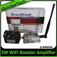 Wireless Amplifier WiFi Extender Repeater 802.11 b/g Router 2W Signal Booster Q-WB002B