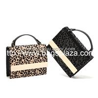 Leopard middle size handbags