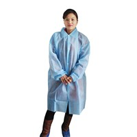 Disposable nonwoven lab coat,medical PP visitor coat velcro closure/ disposable protective clothing