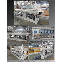 Glass straight-line multi-stage edging machine