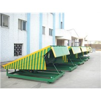 Loading ramp stationary hydraulic dock leveller for container