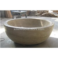 Beige Travertine Bathtub / Stone Tub / Bathroom Bathtub
