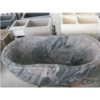 Chinese Multicolor Red Granite Bathtub,Granite Bathtub,Stone Bathtub,Marble Bathtub