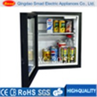 30L commercial glass door mini bar fridge with light box