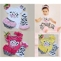 Feikebella kid clothing cotton short sleeve romper with pants baby suit clothes for 0-2T form China
