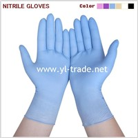 DISPOSABLE BLUE NITRILE GLOVES (CE ISO)