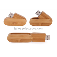 flash memory ,Wooden Swivel USB Flash Drive with Keyring,OEM Service Available