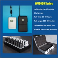 UHF794~806MHZ Handheld Radio Tourism Guide System for conference and travel guide