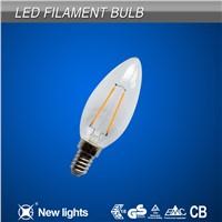 Milky Bulb Shell Filament C35T 360 Degree 2W E14 Led Filament Bulb
