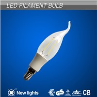 Residential Lighting E12 C35 Led Filament Bulb with Plastic Part